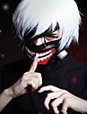 Tokyo Ghoul Ken Kaneki Men\'s 12 inch Heat Resistant Fiber Silver Anime Cosplay Wigs