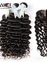 4 delar Stora vågor Hårförlängning av äkta hår Indiskt hår 100+/-5 12-30 Människohår förlängningar