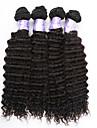 Tissages de cheveux humains Cheveux Brésiliens Ondulation profonde 3 Pièces tissages de cheveux
