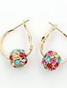 Dame Cercei Picătură Cristal La modă European costum de bijuterii Ștras Placat Auriu 18K de aur Diamante Artificiale Cristal Austriac