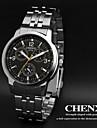 CHENXI® Bărbați Ceas de Mână Quartz Quartz Japonez Oțel inoxidabil Bandă Argint Alb Negru