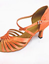 Latin - Pantofi de dans (Maro/Alb Pentru femei