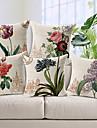 set de flori stil 5 țări model bumbac / lenjerie pernă decorative de acoperire