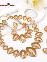 Seturi de bijuterii Clasic Vintage Draguț Petrecere Birou Casual Lanț Modă Ștras 18K de aur Aliaj Brățară Colier Σκουλαρίκια Inel