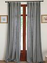 Deux Panneaux Le traitement de fenetre Neoclassique Europeen Designer Rustique Moderne , Solide Chambre a coucher Melange Lin/Coton