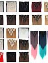 Клип во / на Расширения человеческих волос Прямой Классика Искусственные волосы Накладки из натуральных волос Жен. # 627