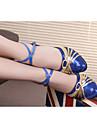 Femme Ballet Latines Baskets de Danse Samba Paillette Brillante Paillettes Cuir Verni Synthetique Talon Sandale Basket Interieur