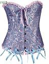 Feminin Corset peste Bust / Set Corset Pijamale Nailon / Spandex Jacquard Albastru