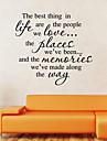 perete autocolante de perete stil decalcomanii nou cel mai bun de viață cuvinte în limba engleză&citate autocolante de perete din PVC