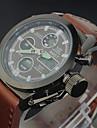 brand de lux din piele trupa Casual bărbați condus ceasuri ceas cuarț ceas militar