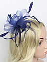 Feather / Net Fascinators / Headwear with Floral 1pc Wedding / Special Occasion Headpiece