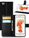 Pour iPhone 8 iPhone 8 Plus iPhone 6 iPhone 6 Plus Etuis coque Portefeuille Porte Carte Avec Support Clapet Coque Integrale Coque Couleur