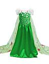 Prințesă Costume film & teme TV Elsa Costume Cosplay Costume petrecere Copil Crăciun Halloween Zuia Copiilor Festival / Sărbătoare
