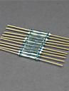 tungomkopplare / Magnetbrytare / glas storlek - gyllene + grön (10 st / 2 x 14mm)