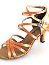 Latin / Salsa - Pantofi de dans (Negru / Maro / Verde) - Personalizat - Pentru femei