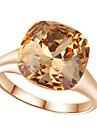 Pentru femei Cristal Inel de declarație - Diamante Artificiale, Aliaj Lux, Modă O Mărime Rosu / Maro deschis Pentru Nuntă / Petrecere