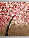 Pictat manual Floral/Botanic Pătrat,Realism Un Panou Hang-pictate pictură în ulei For Pagina de decorare