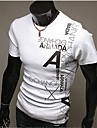 Bărbați Tricou Casul/Zilnic Muncă Elegant Sporturi Plus SizeMată Imprimeu Manșon scurt Bumbac Poliester