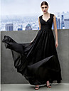 A-Line Sweetheart Floor Length Chiffon Formal Evening / Black Tie Gala Dress with Lace Criss Cross by TS Couture®