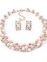 Pentru femei Perle Set bijuterii - Perle, Imitație de Perle, Ștras European, Modă, de Mireasă Include Alb / Curcubeu Pentru Nuntă / Petrecere / Zi de Naștere / Σκουλαρίκια / Coliere