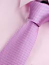 Bărbați Mată Toate Sezoanele Vintage Petrecere Birou Casual Poliester,Cravată Roz