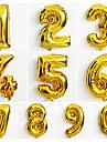 10st stora guld nummer 0-9 ballonger nya året julfest bröllop dekoration ballong