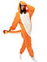 Kigurumi Pijamale balaur Onesie Pijamale Costume Lână polară Fibră sintetică Portocaliu Cosplay Pentru Adulți Sleepwear Pentru Animale