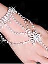 Pentru femei Bratari Wrap / Ring Bracelets - Ștras, Argilă, Diamante Artificiale Αστέρι Brățări Alb Pentru Petrecere / Zilnic