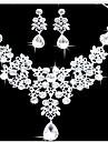 Pentru femei Seturi de bijuterii Bratara colier Cercei Zirconiu Cubic Argilă Diamante Artificiale Aliaj Picătură Draguț Petrecere