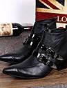 Bărbați Pantofi Piele Primăvară Toamnă Iarnă Confortabili Cizme Cizme/Cizme la Gleznă Cataramă Pentru Casual Party & Seară Negru