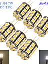 4W G4 LED-lampa T 27 lysdioder SMD 5050 Dekorativ Varmvit Kallvit 250-300lm 3000/6000K DC 12 AC 12V