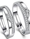 Bărbați Dame Inele Cuplu Ajustabile Plastic Zirconiu Cubic Bijuterii Pentru Nuntă Petrecere Zilnic Casual