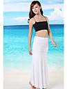 solide costume de baie pentru femei negru / alb / albastru acoperi-up, fara bretele ocazional