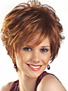 Synthetic Wig Women\'s Wavy Brown Synthetic Hair Brown Wig Short Capless Brown