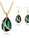 Pentru femei Seturi de bijuterii Cercei Picătură Coliere cu Pandativ Cristal Elegant de Mireasă Festival/Sărbătoare costum de bijuterii