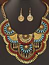 Dame Seturi de bijuterii Bijuterii Statement La modă bijuterii de lux European Pietre sintetice Reșină Aliaj Coliere Σκουλαρίκια Pentru