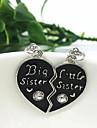 Pentru femei Inimă Formă Inimă Prietenie Bijuterii inițială Coliere cu Pandativ Aliaj Coliere cu Pandativ Mulțumesc Zilnic Casual aleasă