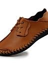 Bărbați Oxfords Confortabili Nappa Leather Toamnă Iarnă Casual Party & Seară Confortabili Negru Cafea Maro Deschis 2.5 - 4.5 cm