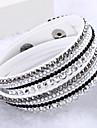 Dame Bratari Wrap Design Unic La modă Multistratificat bijuterii de lux costum de bijuterii Piele  Ștras Diamante Artificiale Bijuterii