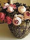 Flori artificiale 1 ramură Stil European Bujori Față de masă flori