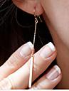 Pentru femei Cercei Picătură Elegant La modă stil minimalist costum de bijuterii Placat Auriu Line Shape Bijuterii Pentru Petrecere