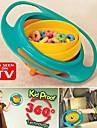 utfodring skål plast 360 graders roterande flexibla barn skål utbildning skål roterande skål gyro barnmat inte spilla