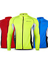 Nuckily Men\'s Long Sleeve Cycling Jersey - Red Green Blue Plus Size Bike Jersey Top Windproof Breathable Quick Dry Sports Terylene Mountain Bike MTB Road Bike Cycling Clothing Apparel / Stretchy