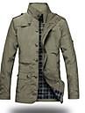 Bărbați Stand Jachetă Militar - Culoare solidă / Manșon Lung