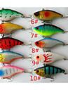 10 pcs פתיונות דיג פיתיון קשיח רעידה פלסטיק קשיח שוקע במהירות דיג בים דיג כללי חכות וסירת דיג