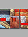 Oil Painting Hand Painted - Abstract Modern Canvas Three Panels