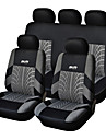 5 locuri scaun universal pentru scaun auto negru / gri material textil autocolant scaun (9 bucăți pe kit)