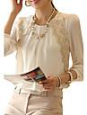 Pentru femei Stil Nautic Bluză Oficial Muncă Vintage,Mată Manșon Lung Iarnă Primăvară Vară Toamnă-Subțire Șifon
