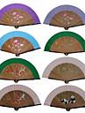 Ventilatoare de Mână(Roz / Verde / Albastru) -Temă Grădină / Temă Florală-Ventilator Portabil Stil Val / Evantai stil scoică / Ventilator