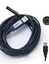 5m vattentät USB 2.0 CMOS 7mm lins 6-ledda orm hd endoskop IP67
